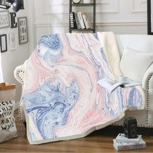 Throw Blanket Soft Cozy Fleece Blanket for Beds Sofa Car 3D Natural Marble Pattern Print Plush Bedspreads Winter Sheet Cover недорого