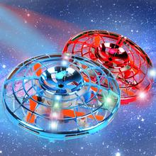 New UFO Mini Drone Helicopter RC Quadcopter Sensing and Lights Indoor Toy Four-a