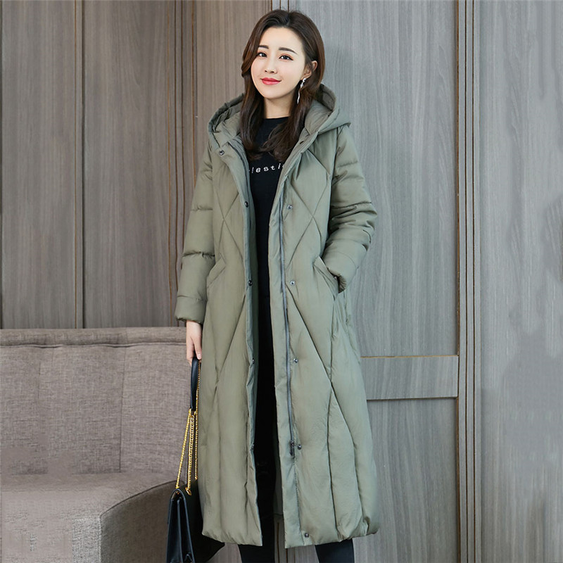 2019 Winter new arrival down jacket women loose Large size clothing outerwear quality blue color thick cotton winter coat YH518