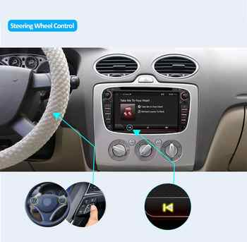 car radio 2 din Android 9.0 car dvd cassette player for ford for focus 2 tape recorder gps navigation wifi steering wheel 4G RAM