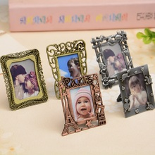 New creative metal alloy photo frame 2 inch variety of shapes retro keychain children picture