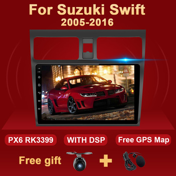 2 Din Android 10 Car Radio For SUZUKI SWIFT 2005-2016 Multimedia Video Player Autoradio Stereo PC RDS DSP 4G 2Din GPS Navigation image