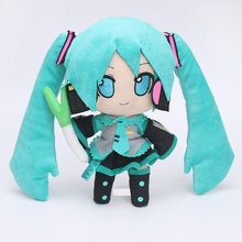 24cm Japanese anime Hatsune Miku VOCALOID Series Virtual Singer Smiles Stuffed Soft Doll Snow Hatsune Miku Plush Toy girl gift(China)