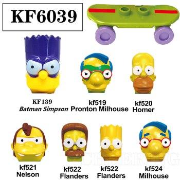 Simpsons Family Figures Model Pronton Milhouse Building Blocks Gift Toys 1