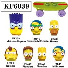 Toys Building-Blocks Homer Bart Action Simpsones Milhouse Model Children for KF6039 Gift
