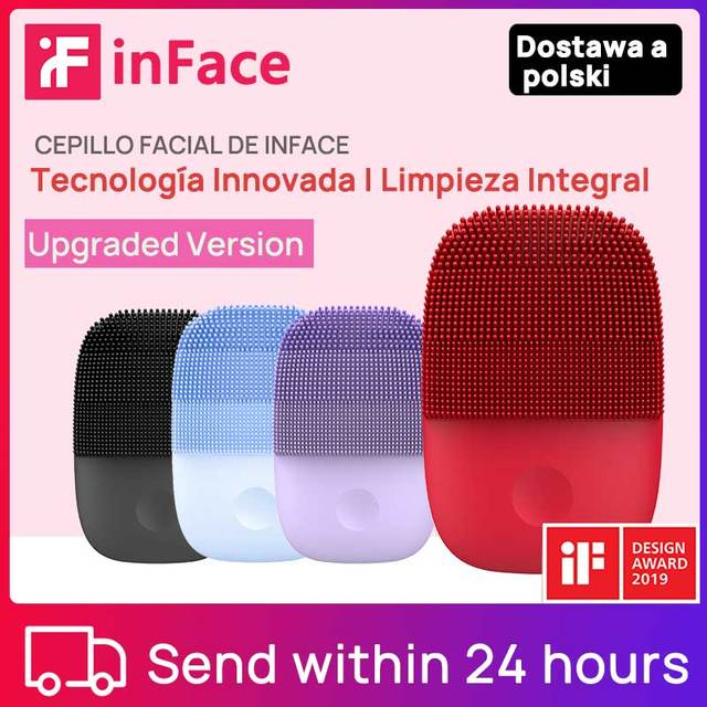 Upgraded Inface Electric Sonic Facial Cleansing Brush Deep Cleansing Face Brush Upgrade Version Face Cleansing