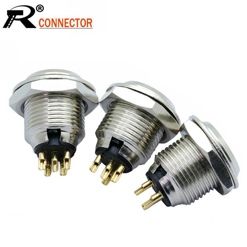 10pcs/lot Mini XLR 3Pin 4Pin 5Pin Male Panel Chassis Socket Screw Mount Small Plug XLR Microphone MIC Audio Connector