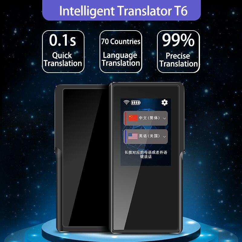 T6 Intelligente Macchina Traduzione 70 Traduzione in Lingua WIFI/Hotspot 7 Giorni In Standby per il Traffico di Viaggio Negozio di Imparare Lo Scambio - 2