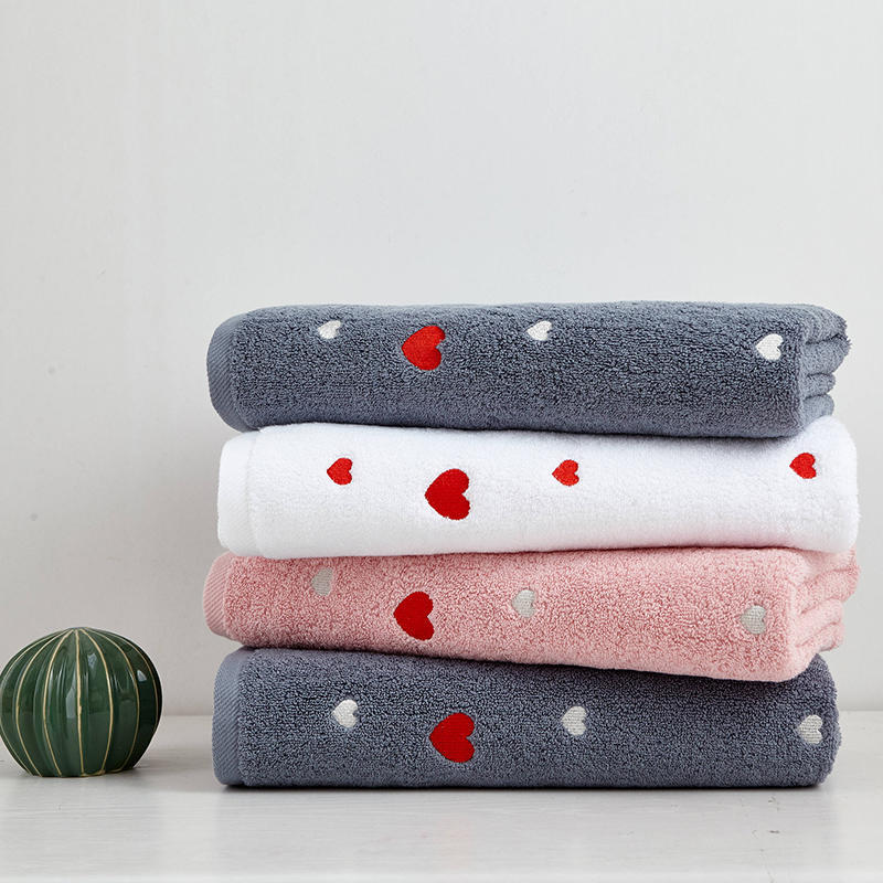 Cotton Knitted Sweet Hearts Baby Bath Towel Absorbent  Kids Face Towel Bath Towel Breathable Kids Washcloth Beach Towel Blanket