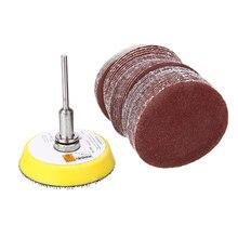 50 шт. 2 ''шлифовальный диск 60-180 крупы наждачная бумага шлифовальные диски шлифовальная площадка с M6 Backer пластина для абразивных инструментов