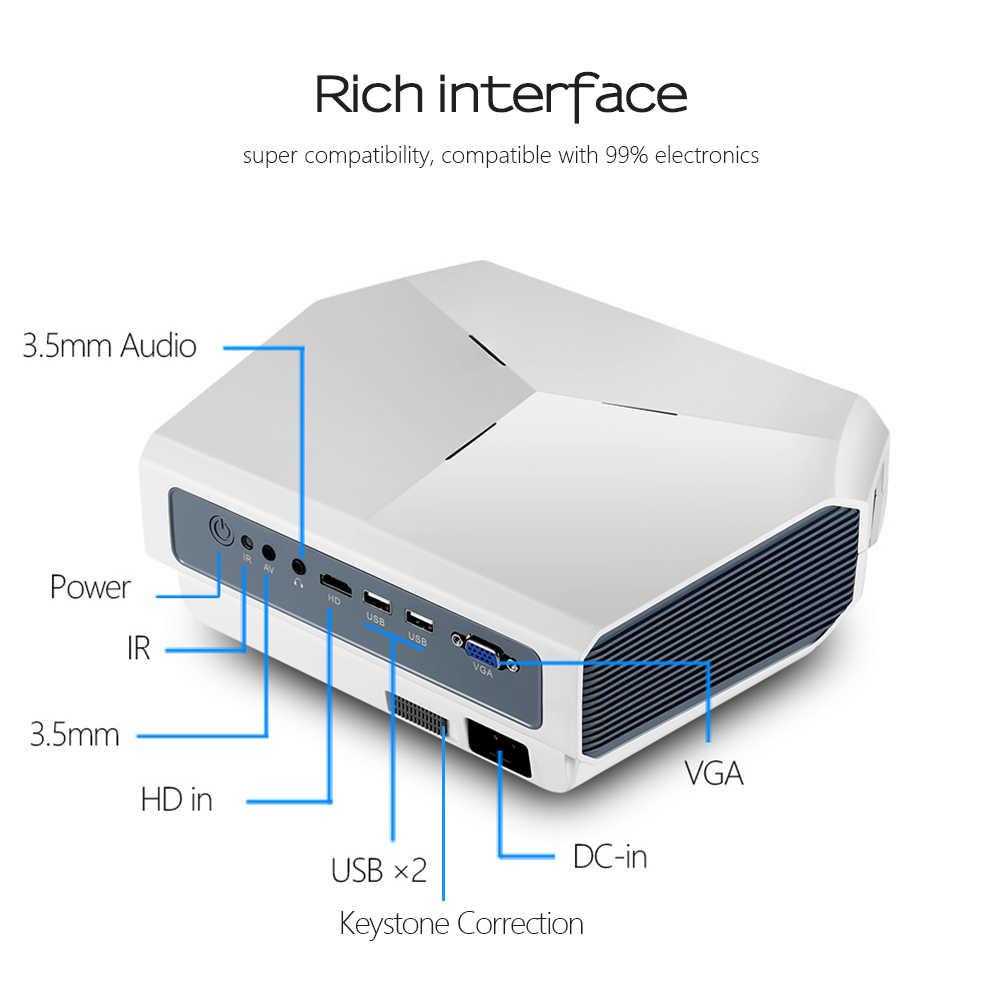 Projektor led AUN ET10, 3800 lumenów, 1280x720 P, opcjonalnie Mirroring/Android projektor wifi, obsługa wideo 1080P 3D MINI beamer