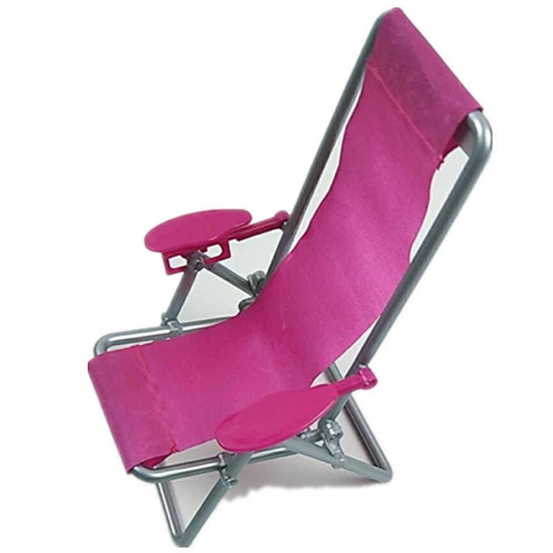 Muñeca accesorios silla casa juguete silla playa ocio silla Rosa niños niña juguete regalo de juguete para niños