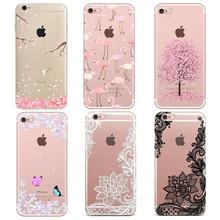 купить LLZ.COQUE Clear Silicone Soft Case For iPhone 11 pro max 7 8 6S 6 Plus X Xr Xs 5S SE Cartoon Transparent Protective Bumper Cover по цене 82.07 рублей