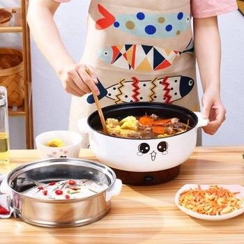 26cm 3.6L Kuchenka Elektryczna Mini Gorący Garnek Kocioł Wielofunkcyjny Parowar Pokoju Wieloosobowym Patelni Naczynia Kuchenne Urządzenia Do Gotowania