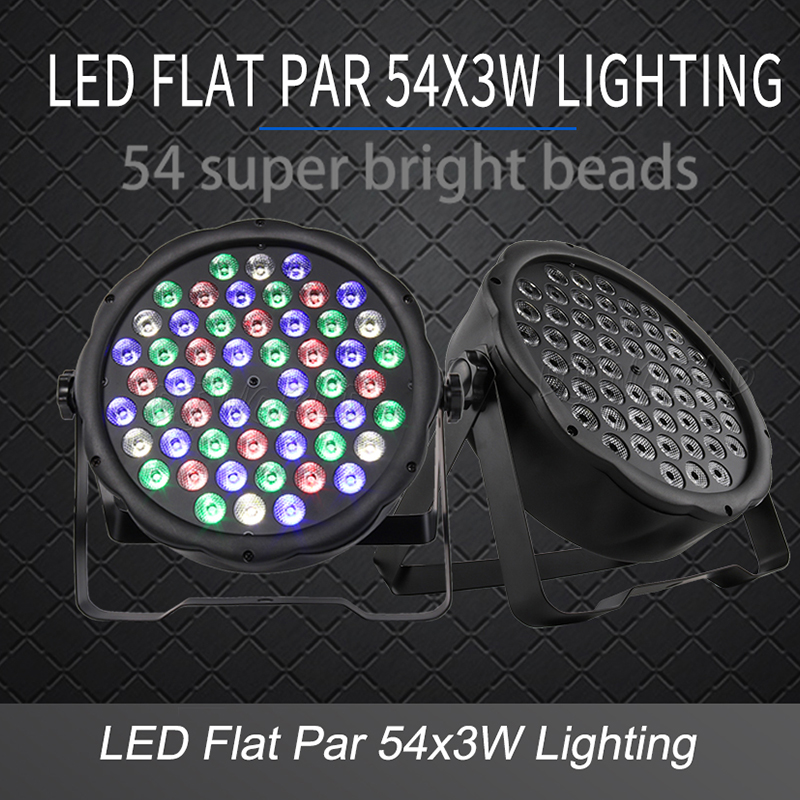 Par 54x3w Dmx-Controller Club Stage-Light Disco Color-Lighting Floor-Bar Strobe DJ Dance