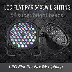 LED Flat Par 54x3W RGB Color L
