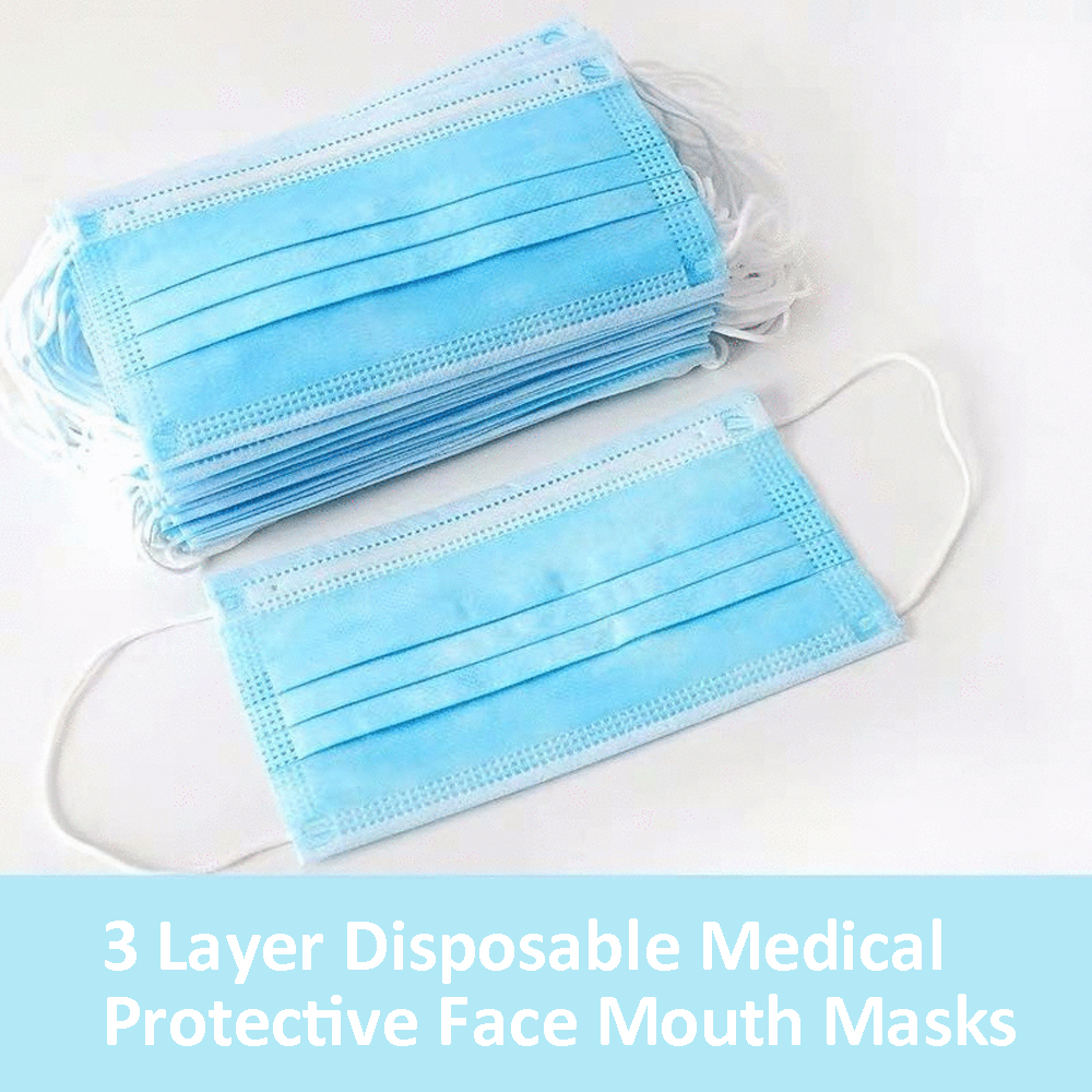Image 3 - 50 Pcs 3 Layer Disposable Face Mask Medical Face Surgical Masks  Anti coronavirus  Anti nCoV PM2.5 Facial Dust Proof Safety Masks  -