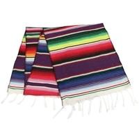 HOT SALE 10Pcs Mexican Serape Table Runner Party Home Decor Fringe Cotton Tablecloth 213X35Cm