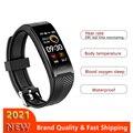 2021 спортивный смарт-Браслет Водонепроницаемый фитнес-трекер Смарт-часы температура тела часы для iPhone Xiaomi Huawei Andriod IOS