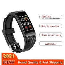 2021 esporte banda inteligente à prova dwaterproof água rastreador de fitness pulseira smartwatch relógio temperatura do corpo para iphone xiaomi huawei andriod ios