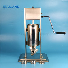 2L Spain Churros Making Machine Stainless Steel Sausage Filler Manual Churro Extruder Commercial/Household Sausage Stuffer