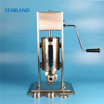 18 electric meat sausage stuffer stainless steel meat grinder vegetable potato fruit cutting machine commercial sausage filler 2L Spain Churros Making Machine Stainless Steel Sausage Filler Manual Churro Extruder Commercial/Household Sausage Stuffer