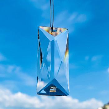 5 sztuk 50mm prostokąt przezroczysty kryształy wisiorki żyrandol szklane kryształy lampa pryzmaty wiszący Ornament części krople 2 otwory tanie i dobre opinie CN (pochodzenie) 20mm Y617 Chandelier crystals 2 Holes 15 9g DIY home wedding decor Bead curtain