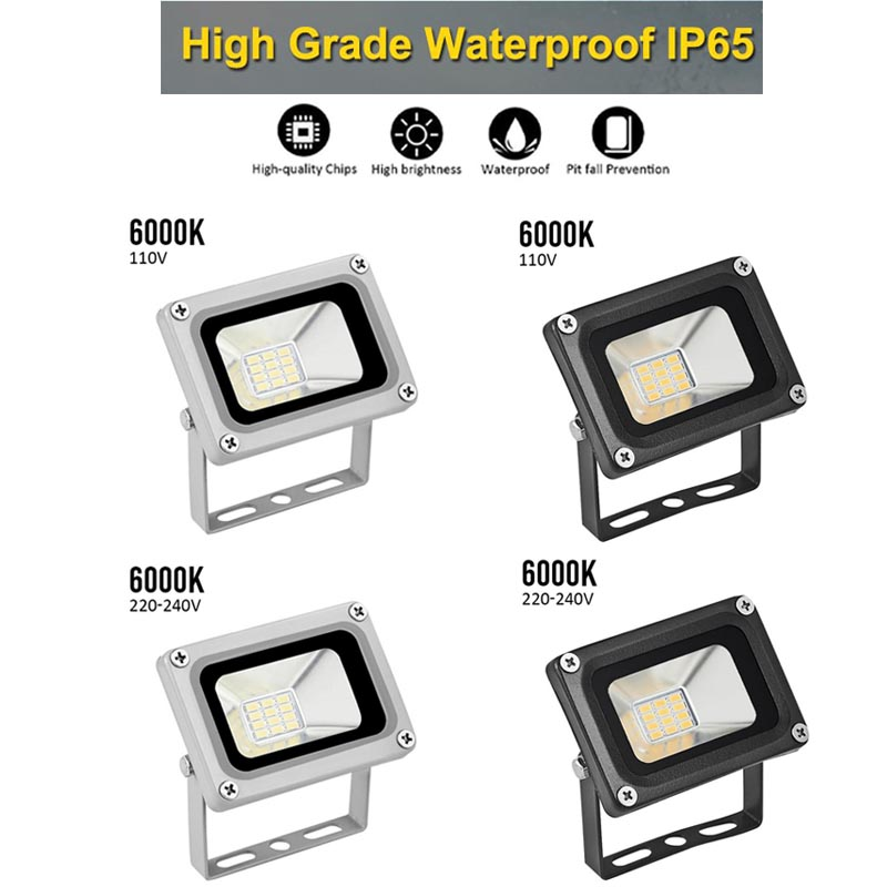 20W LED Floodlight Outside Light 6000K Security Flood Lamp IP65 Outdoor Garden Waterproof Lamps Security Spotlight Street Light