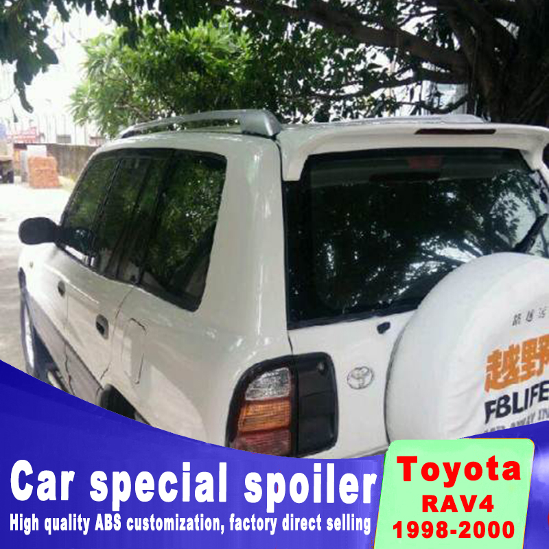For Toyota RAV4 1995-2000 Punching Installation of High Quality ABS Lamped Spoiler Automobile DIY paint accessories Spoilers