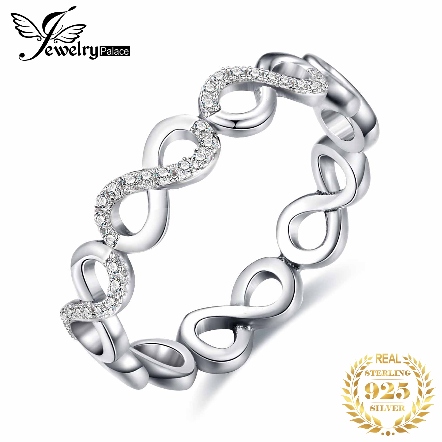 Jewelrypalace 925 Sterling Silver Love Infinity Stacking Ring For Women Best Gifts New Hot Sale As Beatiuful Jewelry