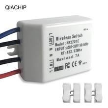 QIACHIP 433.92 MHz commutateur sans fil universel ca 85 265V CH télécommande sans fil récepteur 433mhz maxload 7A haute qualité