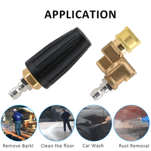 Image 5 - Rotary Pivoting Coupler Jet Sprayer Turbo Nozzles Sprayer Car Cleaning For Quick Connector Car Pressure Washer Accessory
