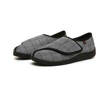 Ev Aletleri'ten Kişisel Bakım Aletleri Parçaları'de Ilkbahar ve sonbahar yeni diyabetik ayarlanabilir bakım ayakkabıları geniş diyabetik tedarikçisi yağ ayakkabı nefes düz topuk ayakkabı diyabet