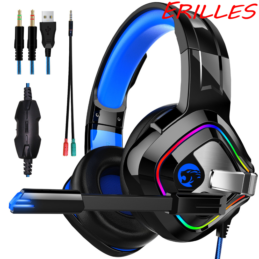 PS4 gaming headset 4D stereo RGB marquee headset with microphone, suitable for all gaming computer players image