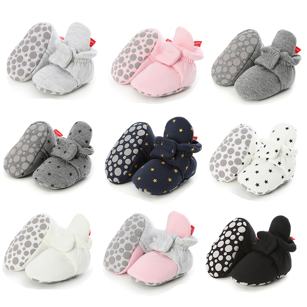 Baby Boy Girl Socks Toddler Shoes Ankle Prewalkers Booties Cotton Winter Soft Anti-slip Warm Newborn Infant Crib Shoes Moccasins