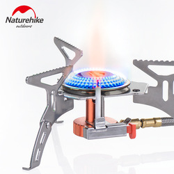 Naturehike Split Outdoor Burner Stove Collapsible Camping Kitchen Cylinder Propane Grill Gas Picnic Wind shield Camping Pot