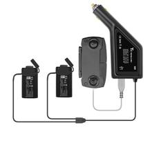 3 em 1 bateria portátil do carregador de carro do zangão & entrada de carregamento remoto 12 v 16 v para dji mavic mini acessórios do zangão
