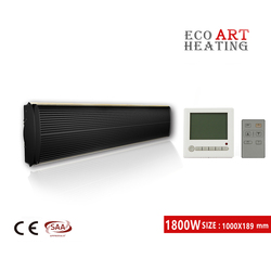 1800w Electric Infrared Patio Heater Radiant Strip Indoor Outdoor Remote Control Ceiling or Wall mounted