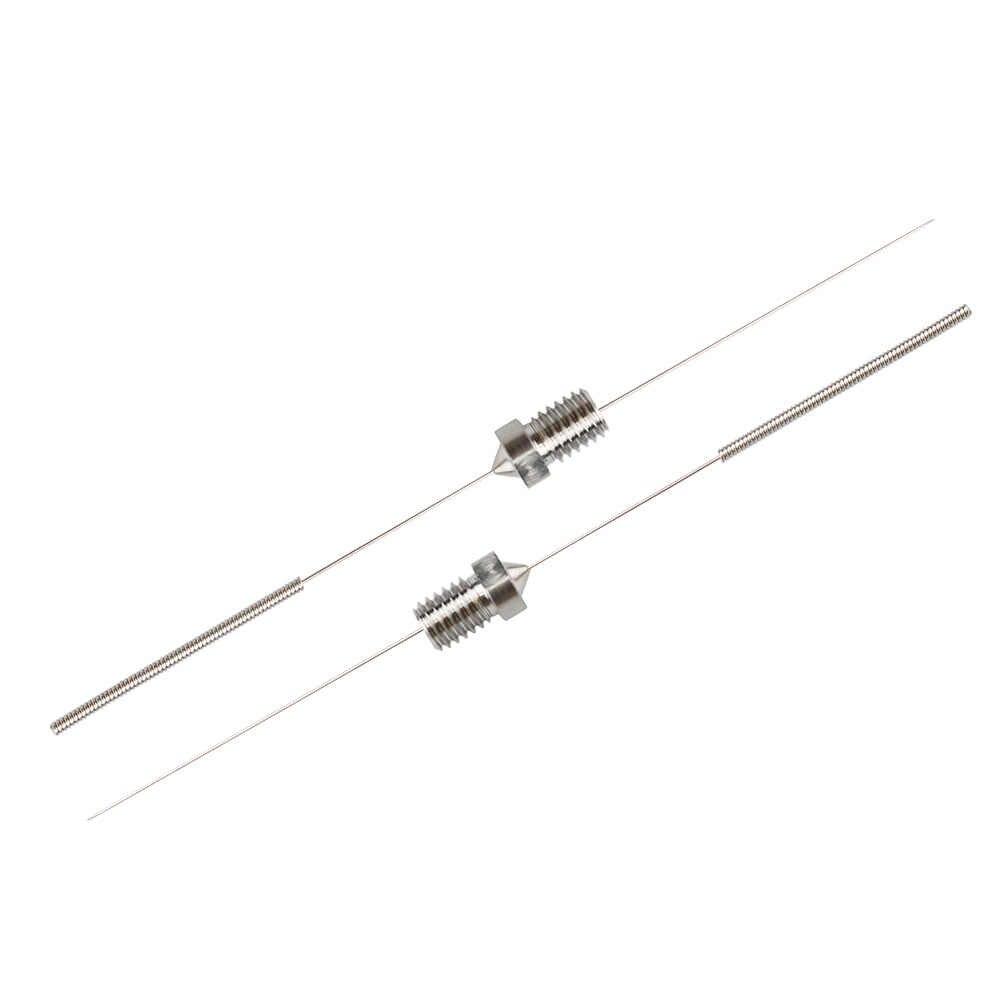 5Pcs Roestvrij Staal Schoonmaken Naald 0.15mm 0.2mm 0.25mm 0.3mm 0.35mm 0.4mm Deel Boor voor V6 Nozzle 3D Printers Onderdelen