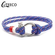 CUTEECO Anchor bracelet Vintage High Quality Silver Plated Rope Bracelet European Style Snake Chain DIY Charm Bracelets Jewelry