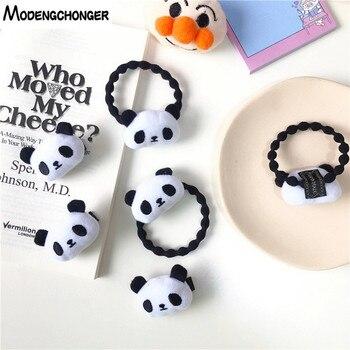 Fashion Cute Girl Elastic Rubber Band Celebration Panda Kid Child Hair Ties Party Cartoon Hairgrip Ropes Accessories
