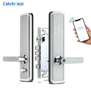 Door-Lock Fingerprint-Lock Digital Bluetooth Keyless Wifi Electronic App Dual-Battery