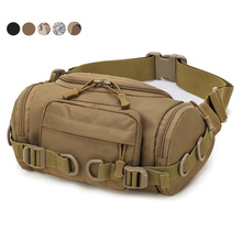 1000D Tactical Waist Bag Water Resistant Multi-Purpose EDC Waist Pack Fanny Bag Outdoor Organizer Pouch Military Hunting Bag