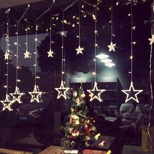 Image 3 - 2020 Đèn LED Mới Dây Đèn Pentagram Ngôi Sao Màn Đèn Cổ Tích Đám Cưới Sinh Nhật Giáng Sinh Chiếu Sáng Trong Nhà Đèn Trang Trí