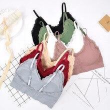 Underwear Bras Conditionable Lace-Bra Women Bralette Sweet Without Shoulder-Strap CHRLEISURE