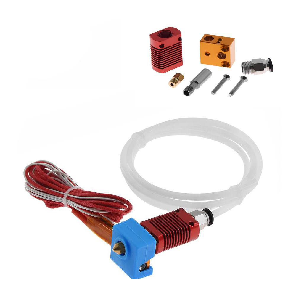 1.75mm MK8 0.4mm Nozzle Assembled Extruder Hot End Heat Block Kit for 3D Printer
