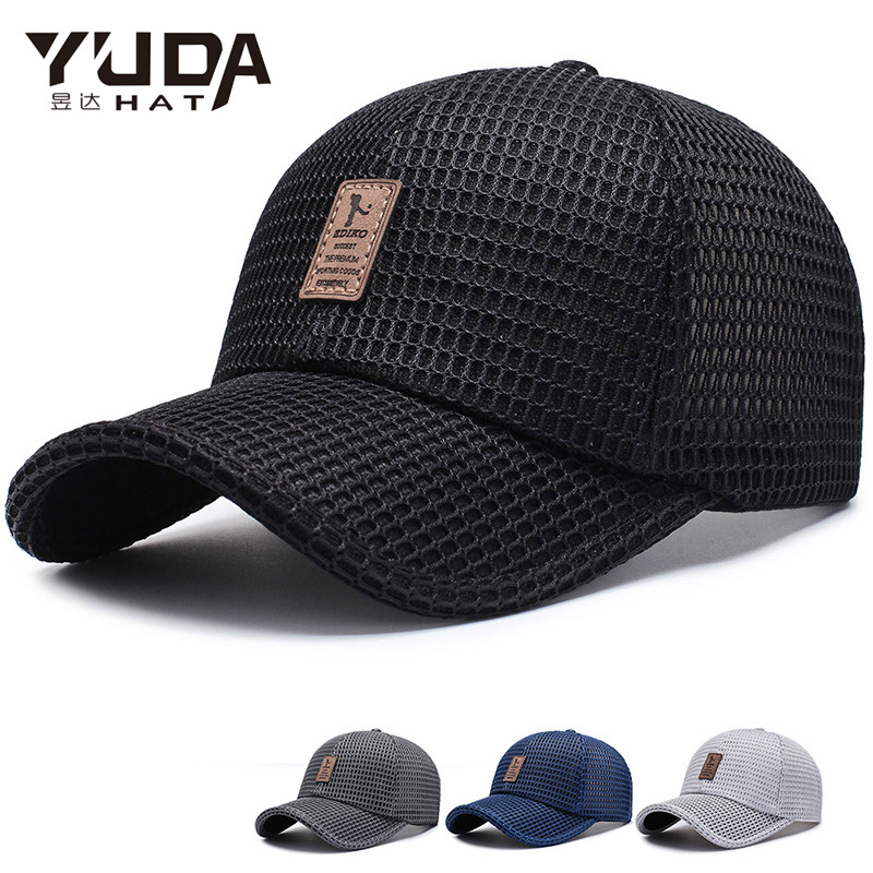 [YUDA]Men Women Summer Snapback Quick Dry Mesh Baseball Cap Sun Hat Bone Breathable Trucker Hats