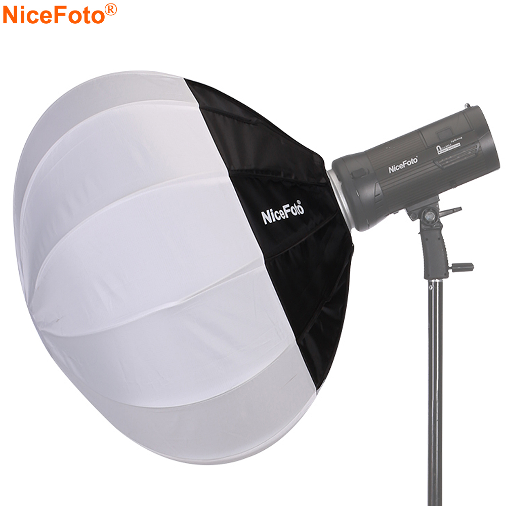 NiceFoto 50/65/80cm Collapsible Sphere Softbox Paper Lantern Ball Shape Globe Diffuser w/ Bowens Mount for Studio Flash Strobe
