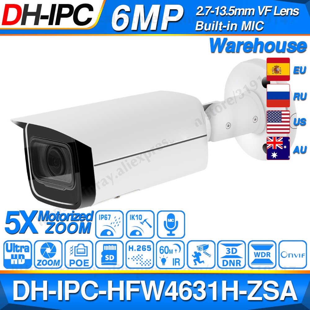 Dahua 4mp Bullet Camera IPC-HFW4431R-Z 80m IR Night Camera with 2.7~12mm VF lens Motorized Zoom Auto Focus Bullet IP Camera
