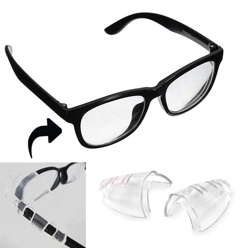 1Pair  Safety Optical  Universal Sideshield Side Shields Glasses Wings Safety Glass Flexible Protector Eyewear